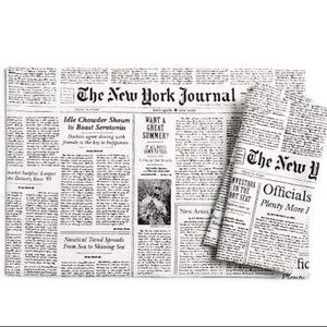 Kate Spade Newspaper Journal Placemats set 4 or 8